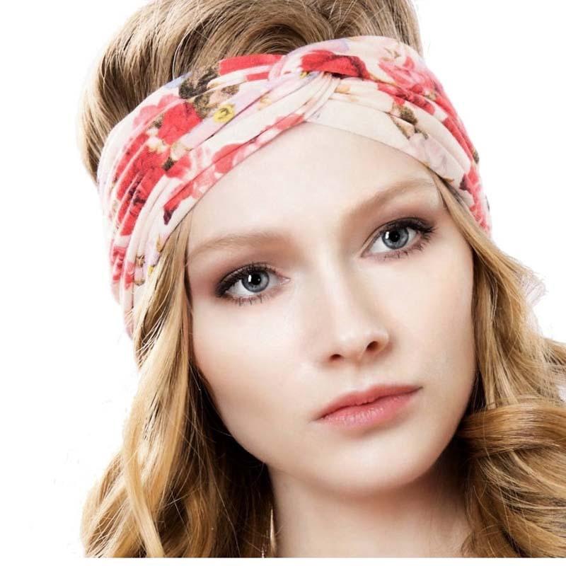 beautiful Women Headband Vintage Cross Knot Elastic Hair Bands very good looking