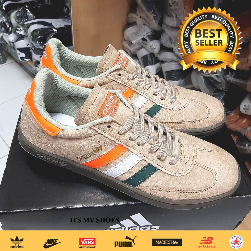 Marcado hardware sopa  Adidas Spezial Gray Orange-Import-Madein Vietnamese Shoes | Shopee Malaysia