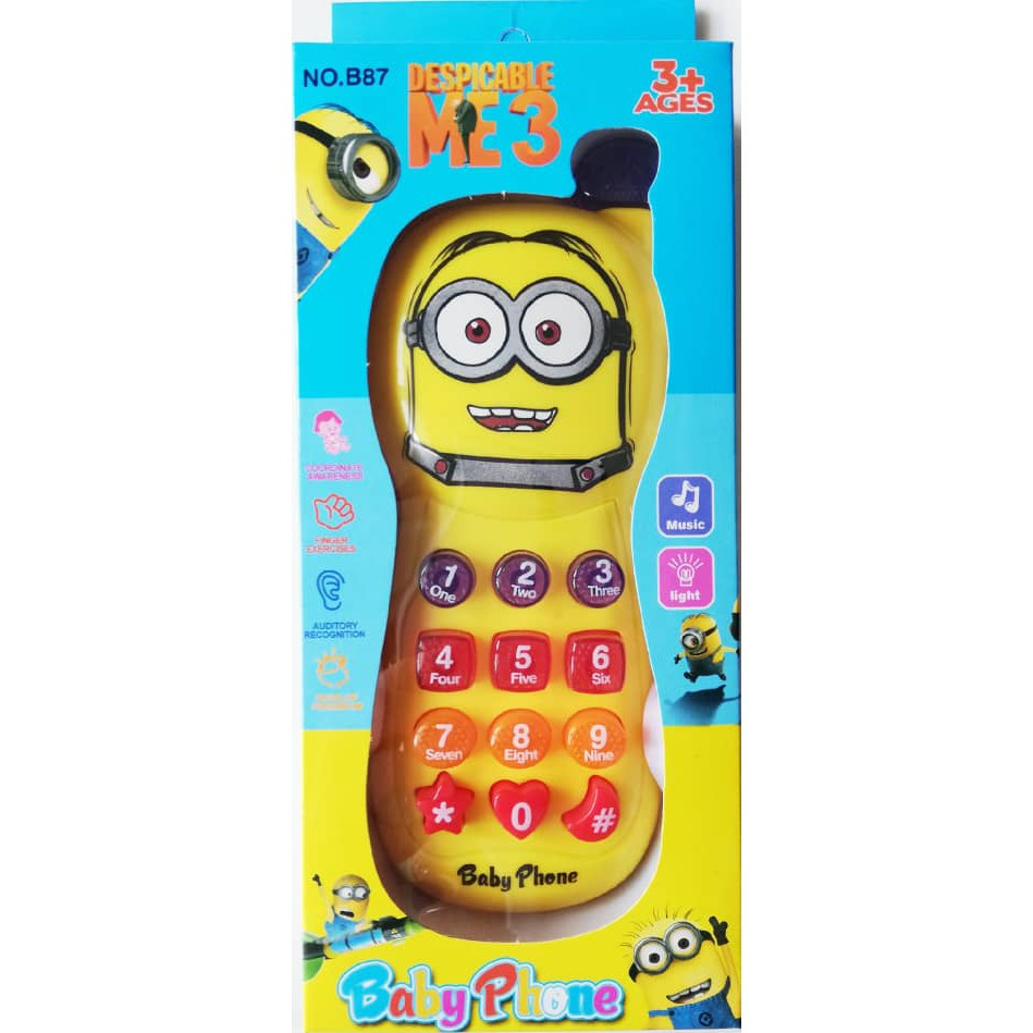 Baby Phone Toys Light and Music Baby Phone Toy Cartoon Phone With 12 Music/Light For Kids/Children