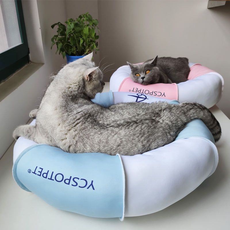 Incredible Mediterranean Style Swim Ring Cooling Breathable Summer Pet Nest Puppy Cat Sofa Bed Cushion Andrewgaddart Wooden Chair Designs For Living Room Andrewgaddartcom