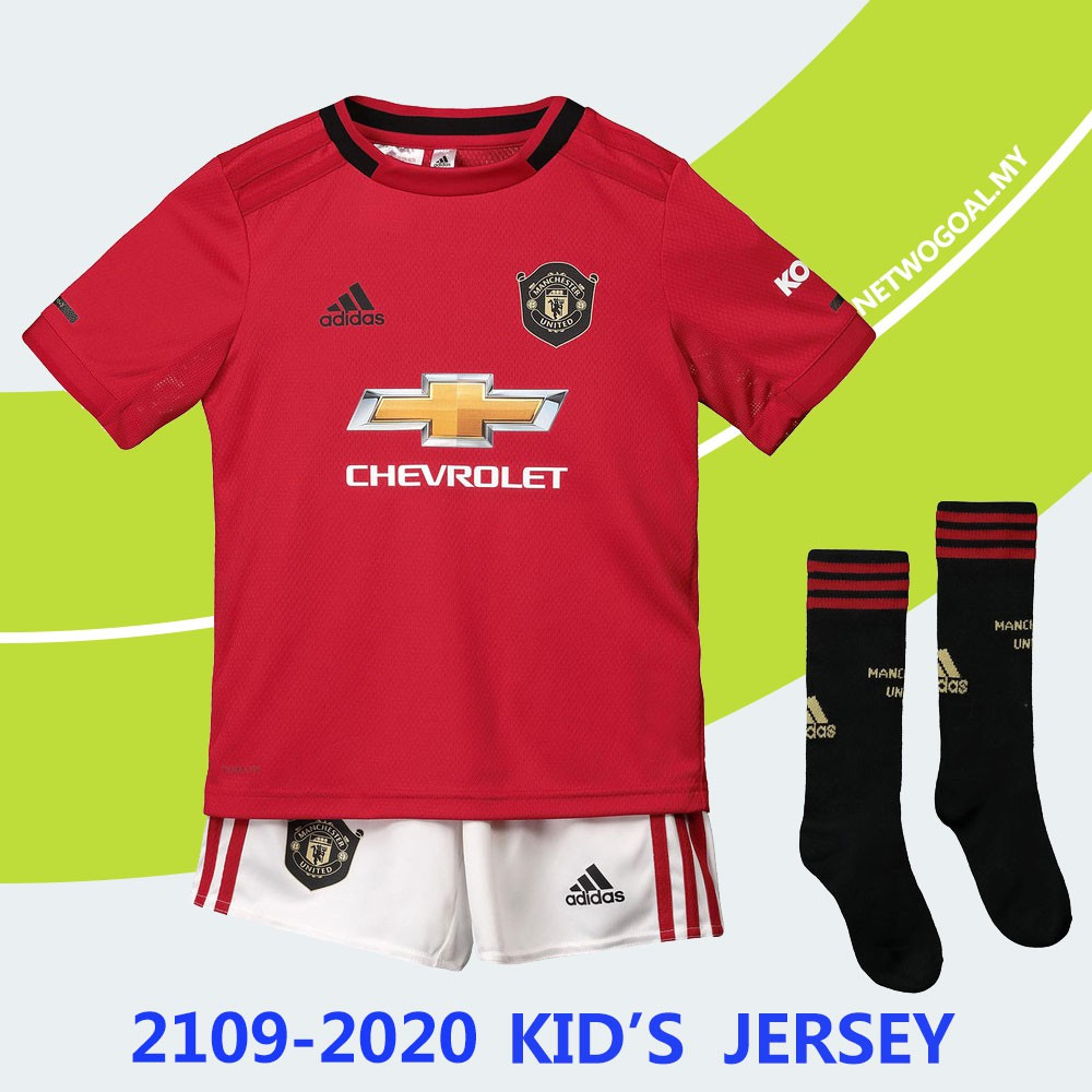 buy online 915a7 8ee7b 2019 2020 Manchester United Kids Jersey Children 18/19 Home Kit Football  Jersey with Socks
