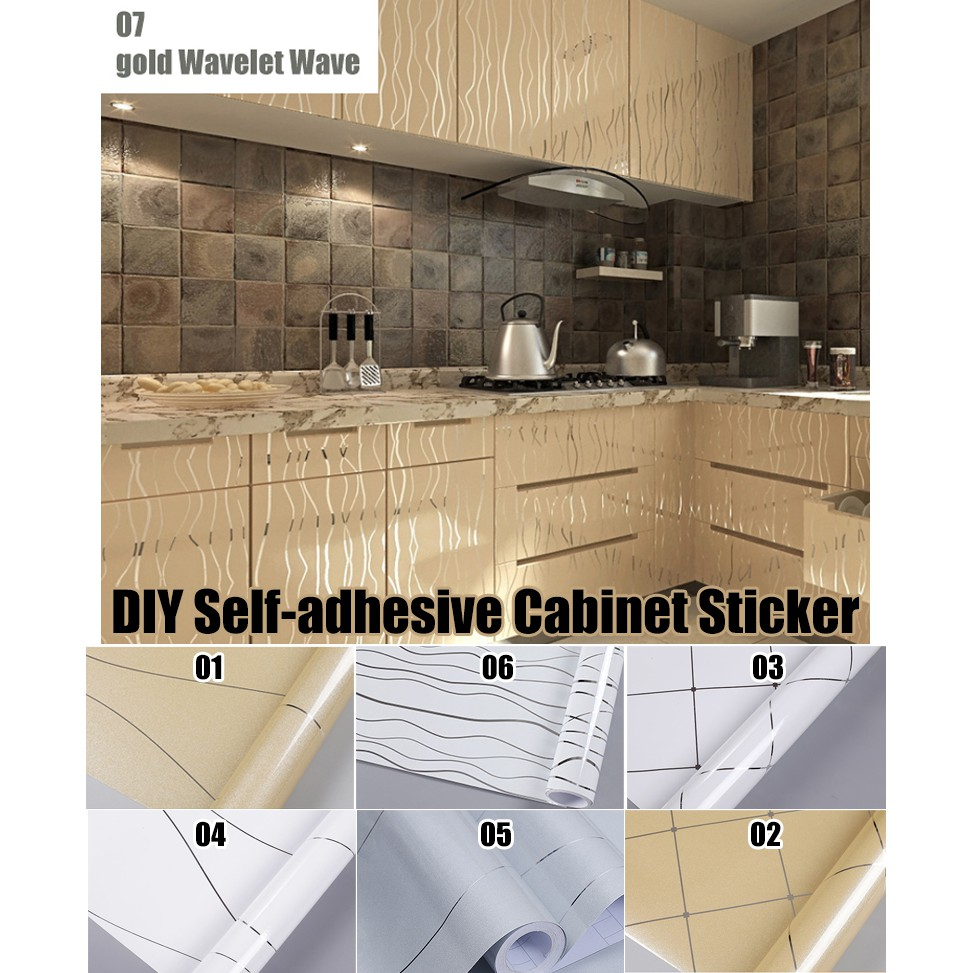 2d Wallpaper Self Adhesive Kitchen Wallpaper Waterproof Kitchen Cabinet Sticker Shopee Malaysia