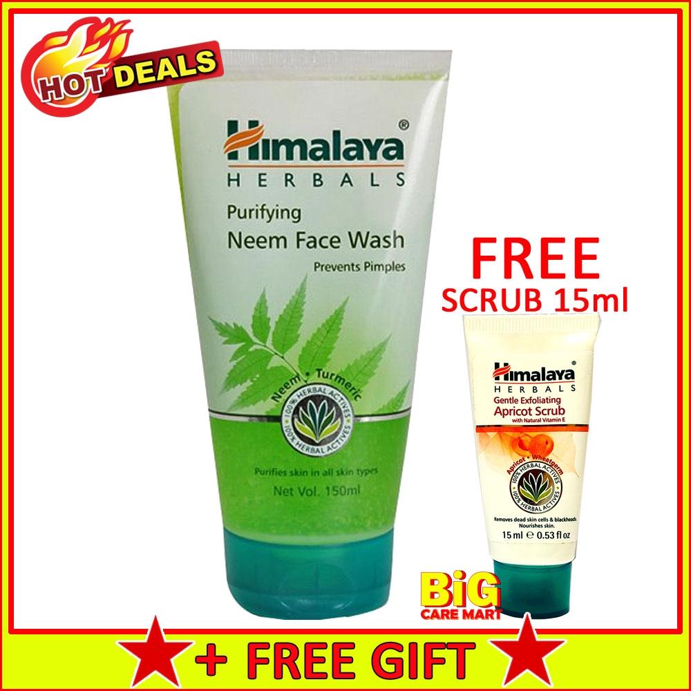 Himalaya Herbals Neem Face Wash 150ml + FREE Scrub 15ml