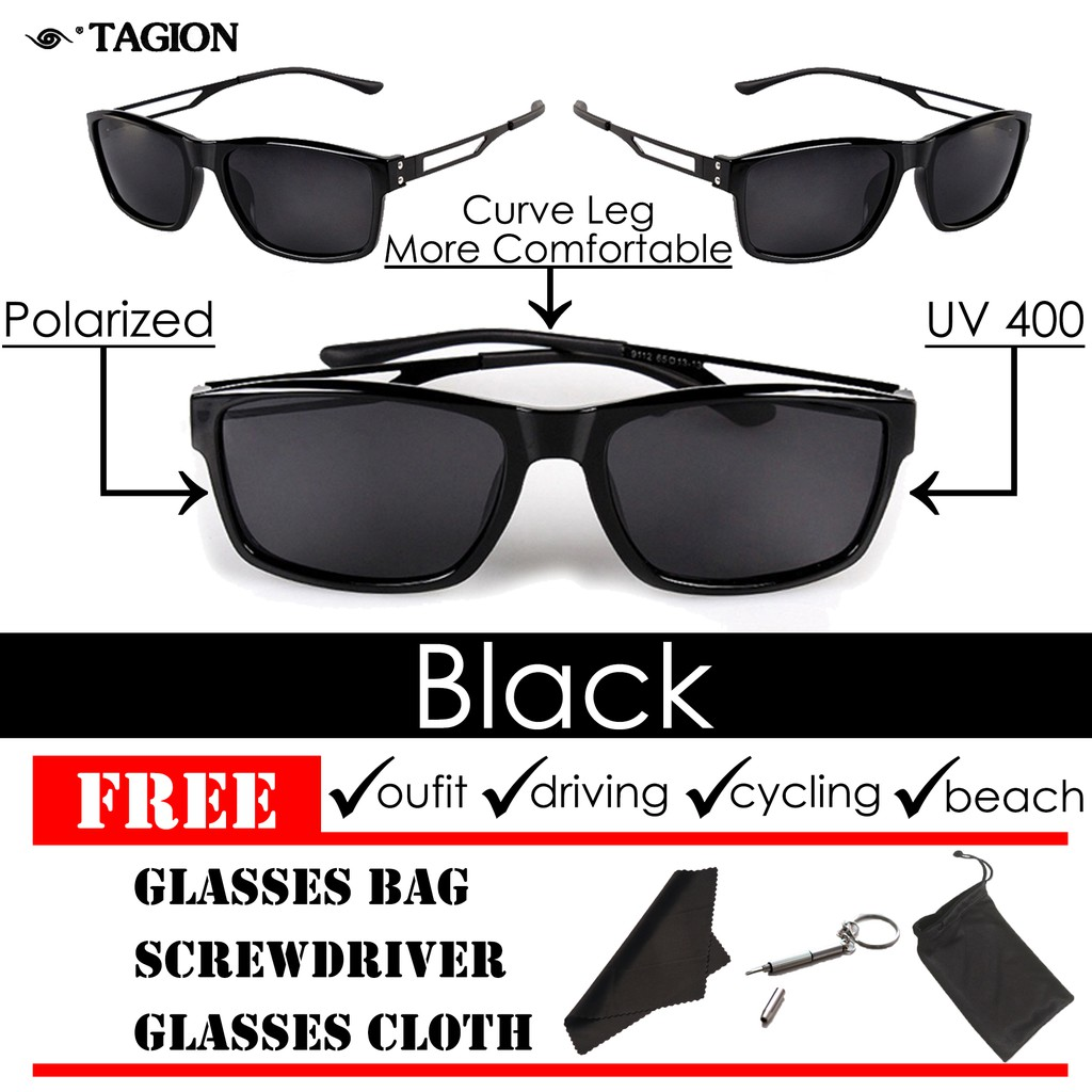 d488048282 Tagion Men s Polarized Lens UV400 Protection Fashion Sunglasses ...
