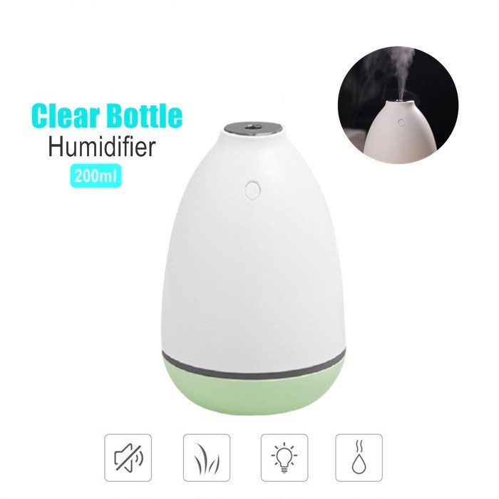 USB Clear Bottle Humidifier Ultrasonic Home Air Moisturizer Mute Mini Humidifier