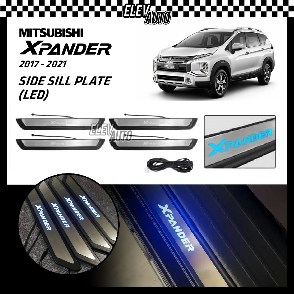 LED Stainless Steel Door Side Sill Step Plate Mitsubishi Xpander (4pcs/set)