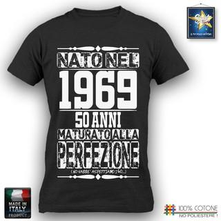 T Shirt 50 Anni Uomo Compleanno 1969 Festa Simpatica Divertente Idea Regalo Papà