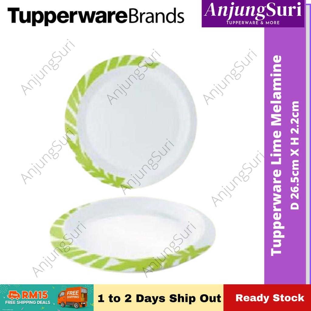 Tupperware Lime Dreams Melamine Plate (1pcs) pinggan tebal & berat