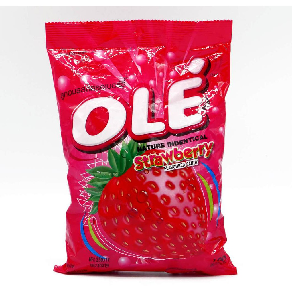 Halal Thailand OLE strawberry candy