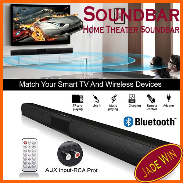 Wireless Bluetooth Soundbar Speaker TV Home Theater Soundbar + Remote  Control