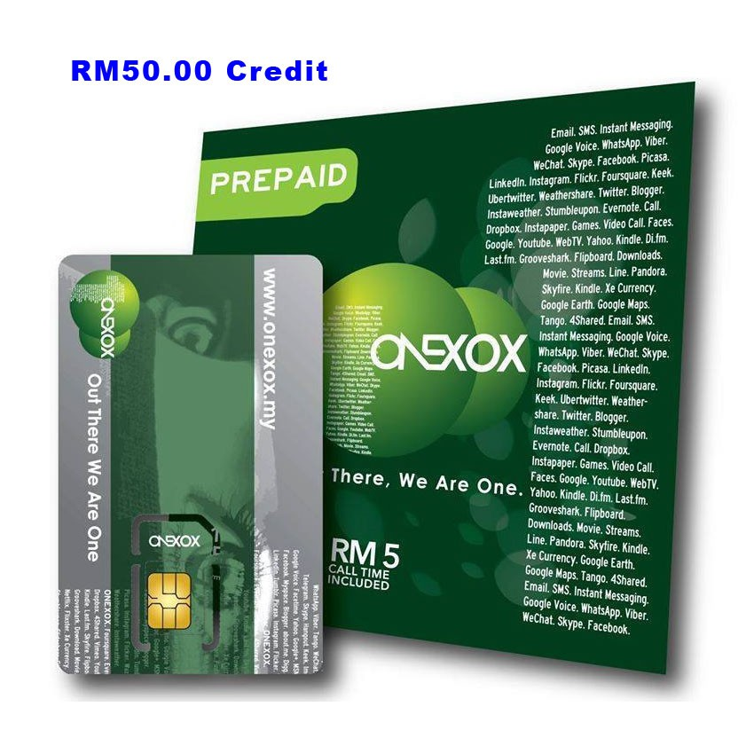 ONEXOX RM50 00 Credit Top-Up