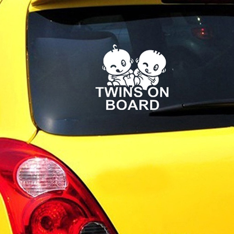 Kids on Board Baby on Board Twins on Board car window vinyl decal sticker many colours