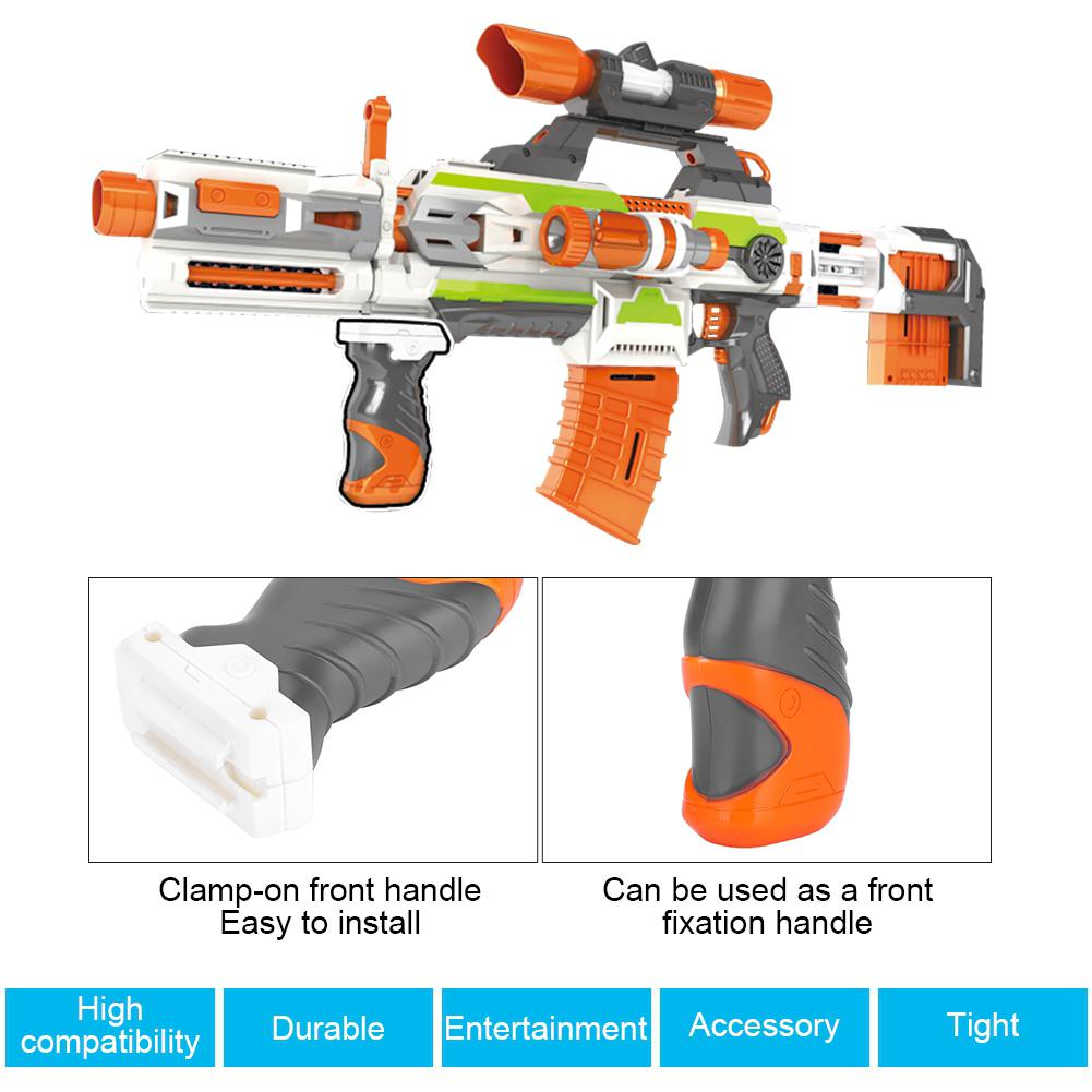 Toy Attachment Accessory Handle Weapon Mod Grip Front Nerf