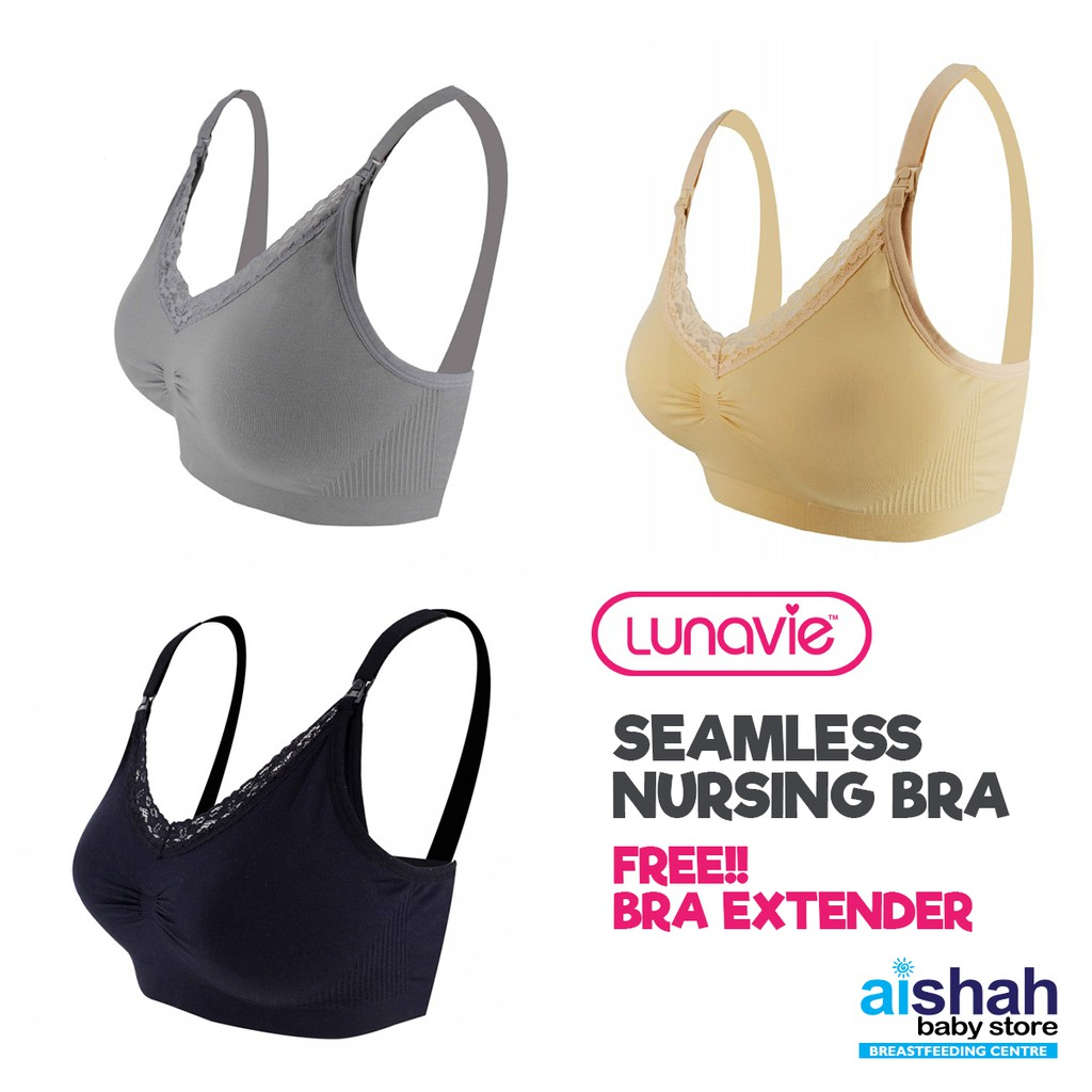 dcd43a60101 Lunavie Sheer Comfort Nursing Bra Size(34 36)