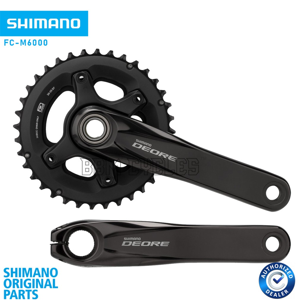Shimano Deore M6000-2 10-Speed 175mm 26//36t Crankset without Bottom
