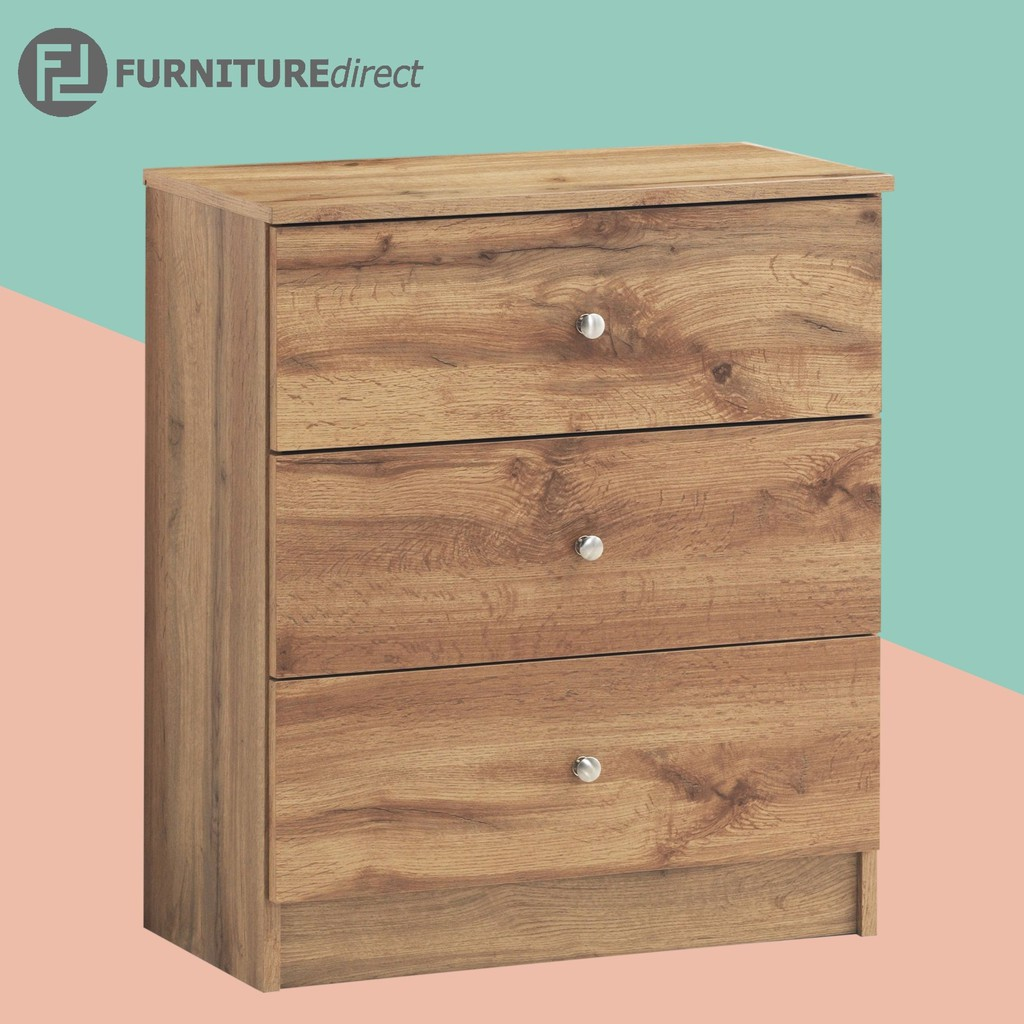 Furniture Direct AWANA 3 drawer chest/ chest of drawers/ chest of drawer