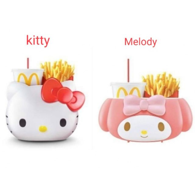 READY STOCK Mcdonald\'s Hello Kitty/melody Carrier - Limited Edition - Kitty /melody