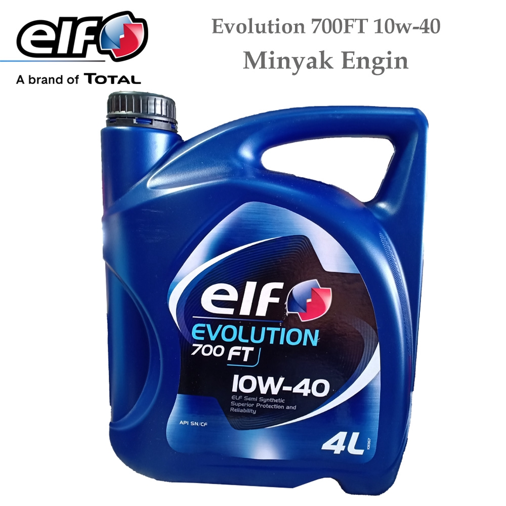 Elf EVOLUTION 700 FT SAE 10W-40 SEMI SYNTHETIC 4 Liter Minyak engin