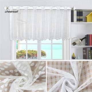 Grey/_ 74x60cm Stripe Half Curtain Bathroom Semi Sheer Privacy Valance
