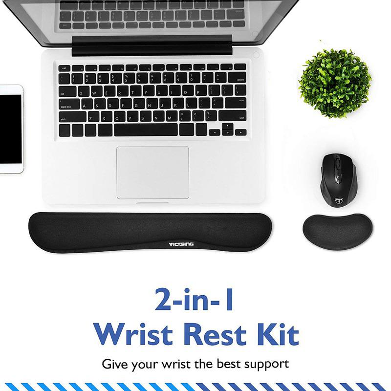 564482298 VicTsing Memory Foam Non Slip Mouse Pad Keyboard Wrist Rest Set | Shopee  Malaysia
