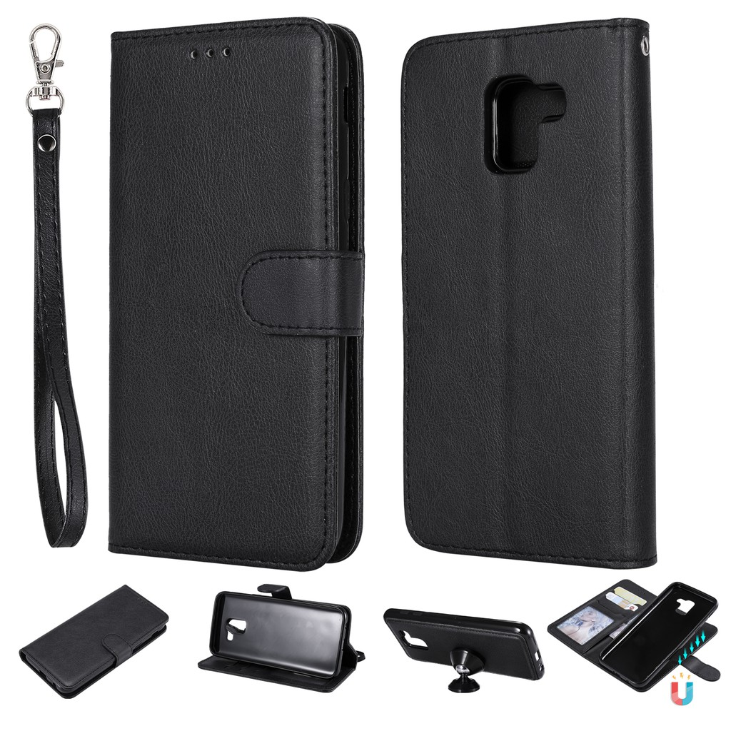 more photos 86a1d 1e119 Samsung J6 2018 detachable two-in-one Leather+TPU case