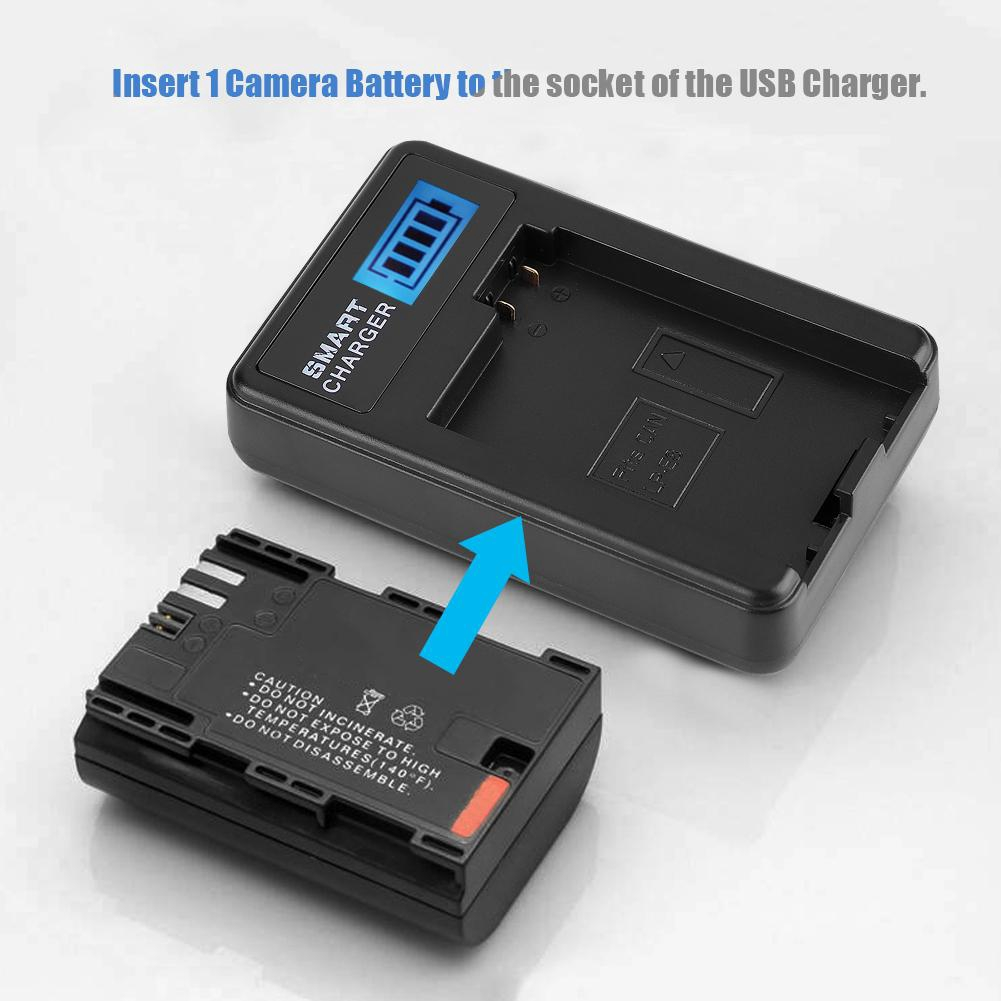 Vbestlife 2 x LP-E6 Camera Vertical Battery Grip for Canon 70D 80D 6 x AA Portable Battery Handle