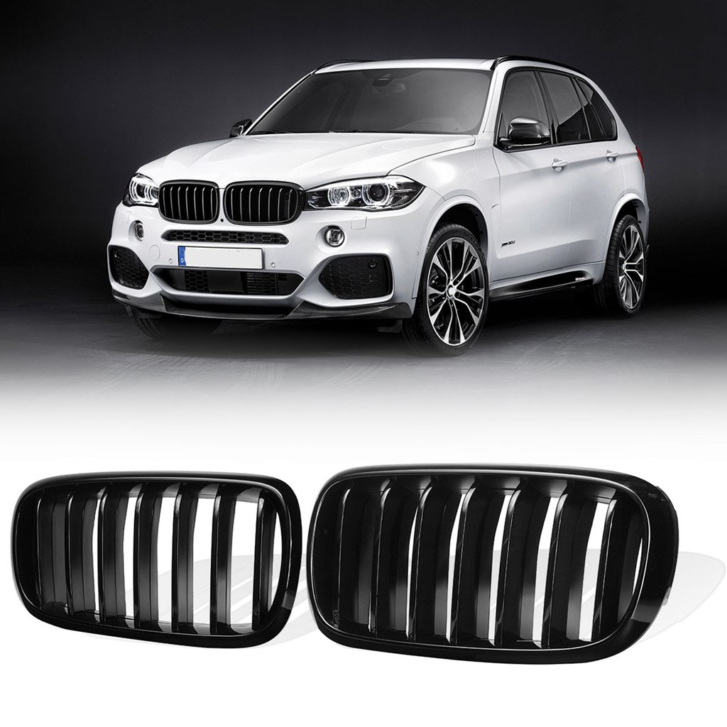 Pair Gloss Black Front Kidney Grille Grilles For Bmw X5 F15 X6 F16 2014 2017 Shopee Malaysia