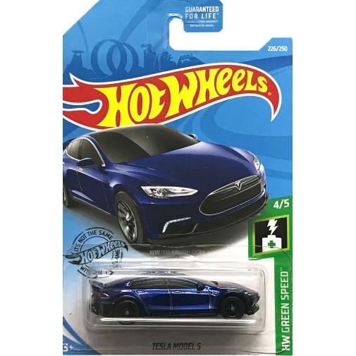 Hot Wheels Tesla Model S Blue New