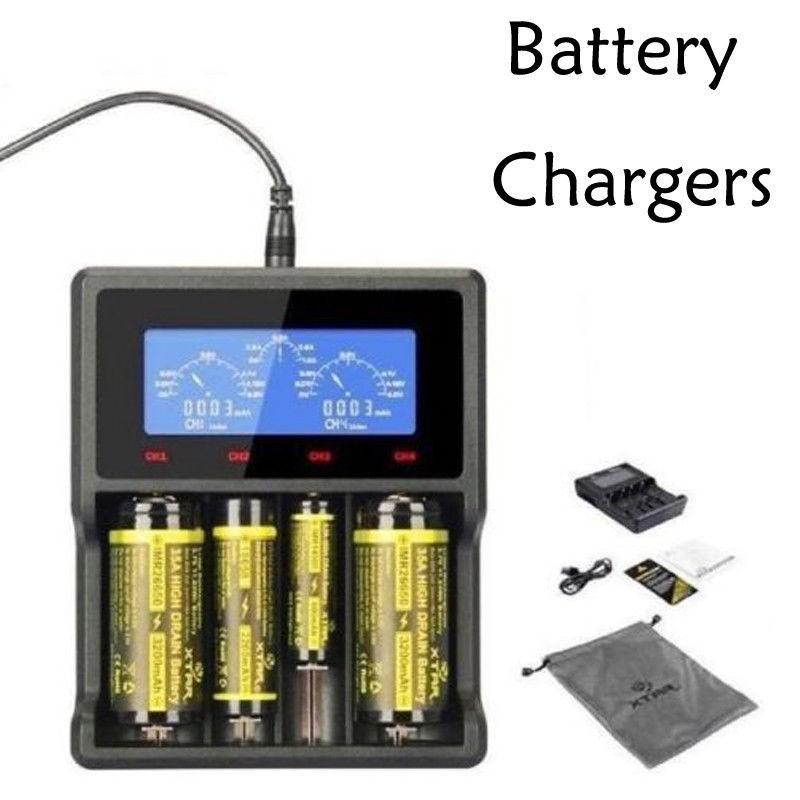 XTAR vc2 VC4 LCD Screen USB Battery Charger 18650 21700 20700 26650 14500 Smart Intelligent vtc6 hg2 NiMH Li-ion Lithium