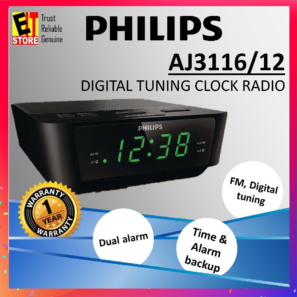 Digital Tuning Clock Radio Alarm