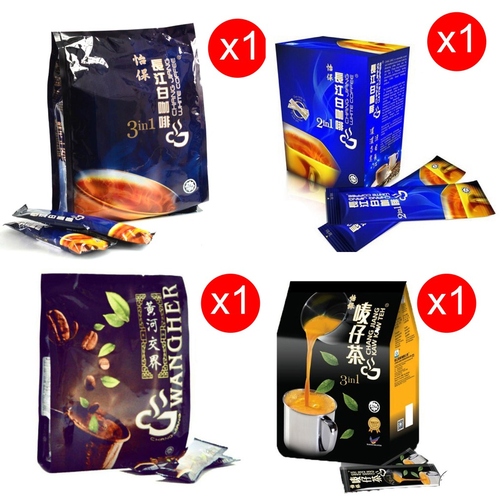 Ipoh Chang Jiang 3 in 1 Kaw Kaw White Coffee Mix 4 in 1 4pkt