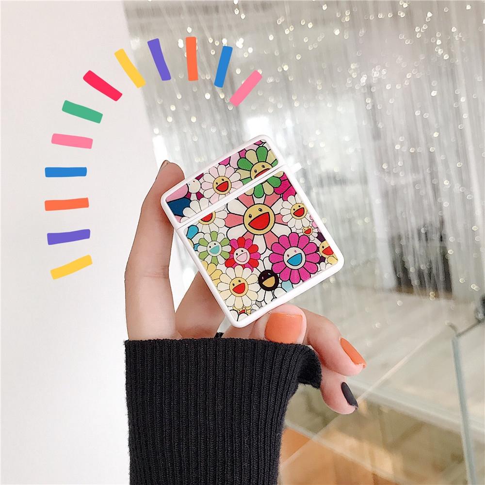 3aedff00e4 Murakami Takashi KaiKai KiKi Silicone Case For Apple Airpods 1 2 Colorful  Sun Flowers fashion popular protective Cover