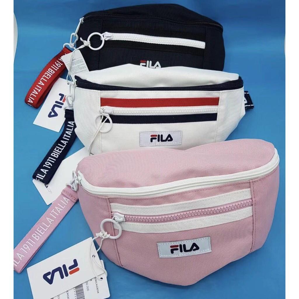 READY STOCK  FILA Chest Bag   Waist bag Pouch   Sling bag men women ... a41b71b3009da