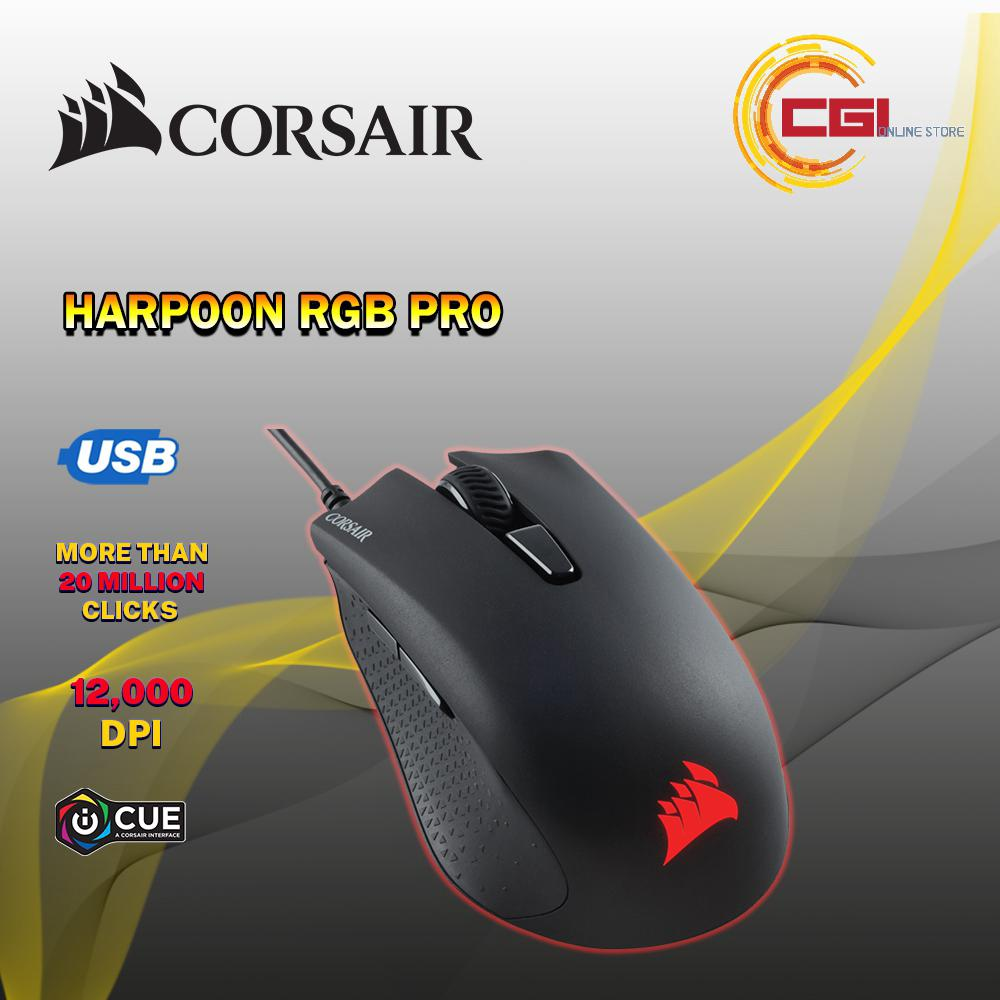 CORSAIR IRONCLAW RGB FPS/MOBA Gaming Mouse (CH-9307011-AP) | Shopee