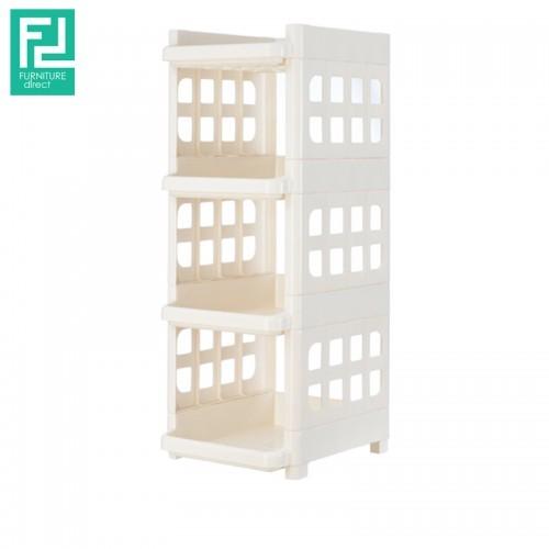 Century 551-4 4 Tier multipurpose plastic rack- white