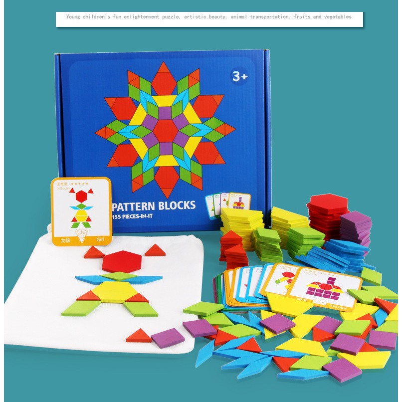 Kids Tangram Infantil Wooden Jigsaw Puzzle Educational