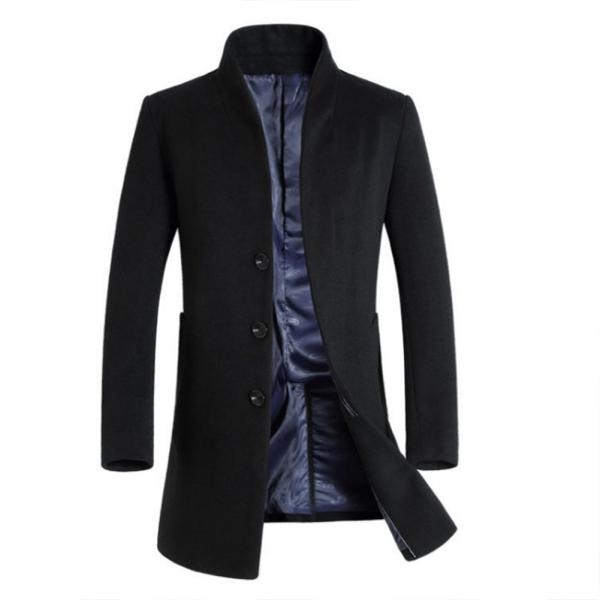 3203c9ed8a8 Men's cotton jacket winter breadcotton padded jacket long hat cotton and  wear   Shopee Malaysia