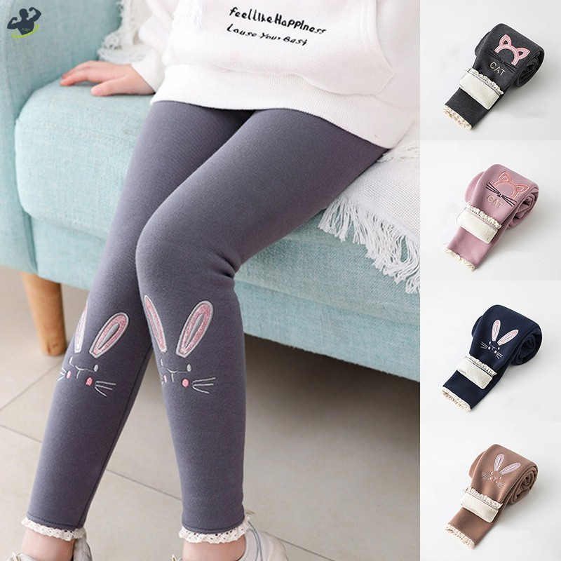Botrong/® Toddler Girl Skinny Pencil Pants Warm Kids Lace Winter Stretchy Legging