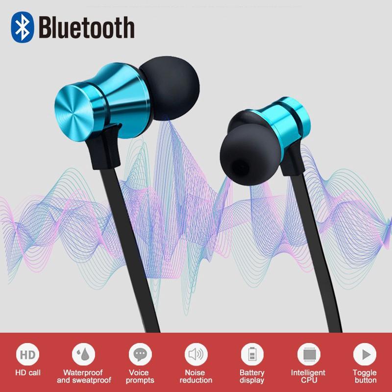 Wireless Bluetooth Earphone Sports Headphones Stereo Bass Music Earpieces