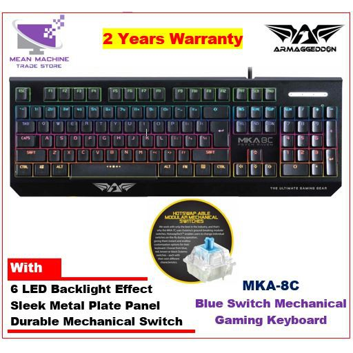 59973f28fd8 Armaggeddon MKA-3C Psychfalcon Mechanical Keyboard Blue Switch | Shopee  Malaysia