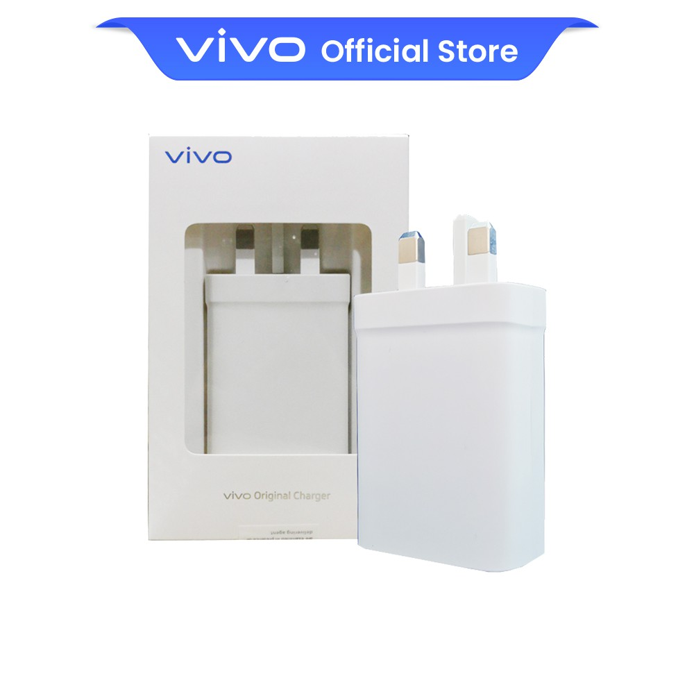 vivo 33W USB Fast Charger Power Adapter (UK 3-Pin) -  3 Months Limited Warranty