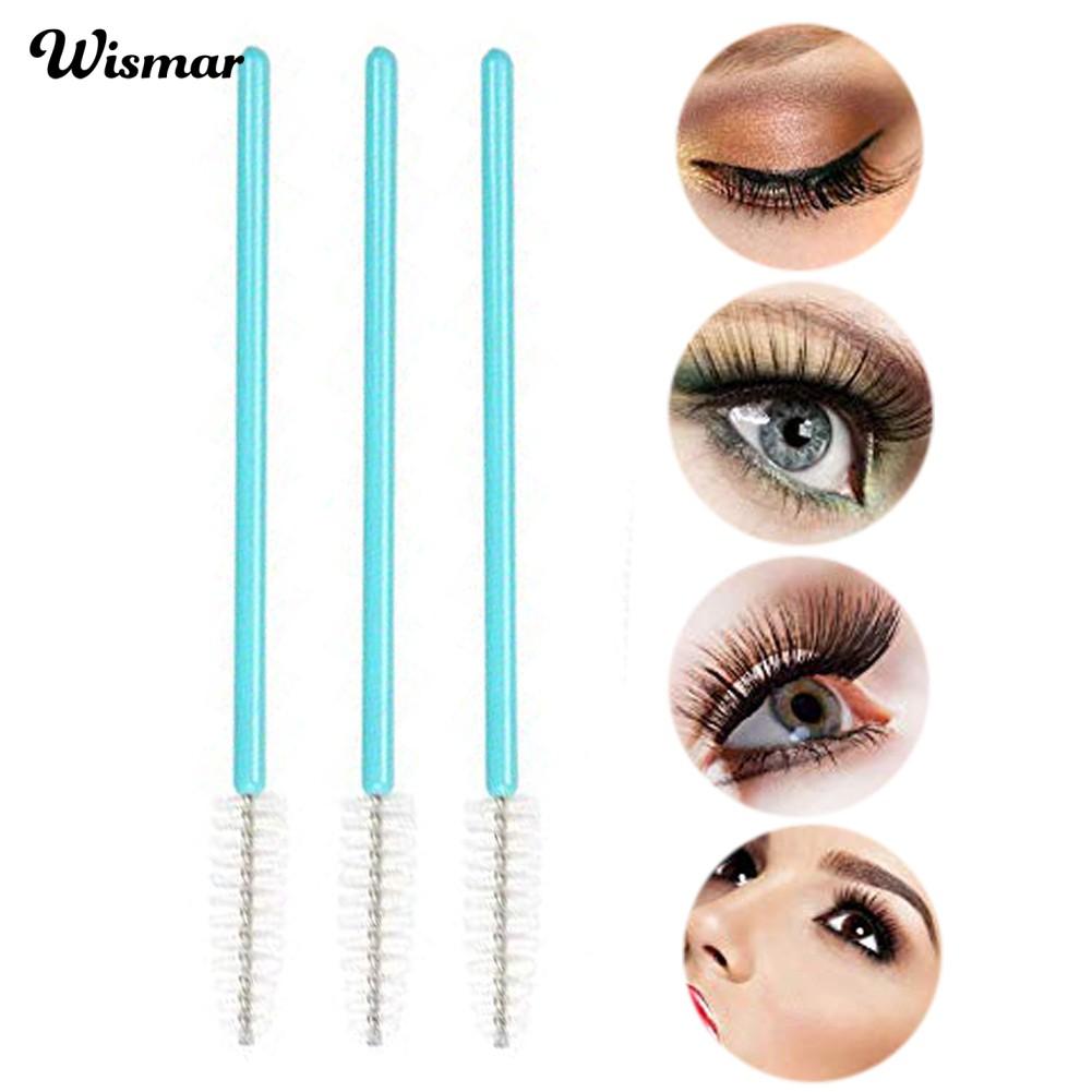 Wis 50Pcs Disposable Grafting Eyelash Brushes Wands Tools