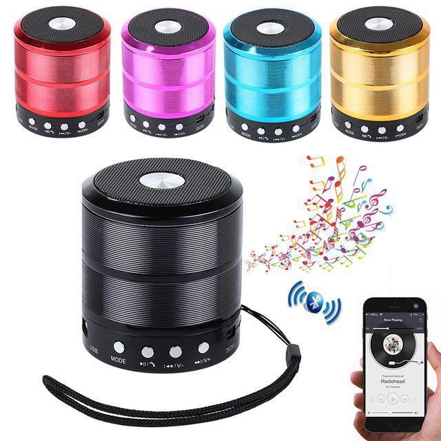 Mini Wireless Speaker Portable Player Bluetooth WS887 USB/TF/RADIO/AUX