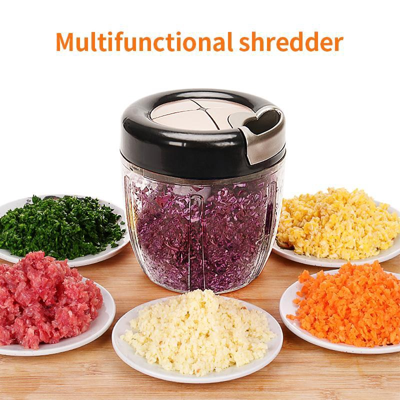 Kitchen Manual Food Chopper Mincer Grinder Vegetable Fruit Meat Nut Hand Blender