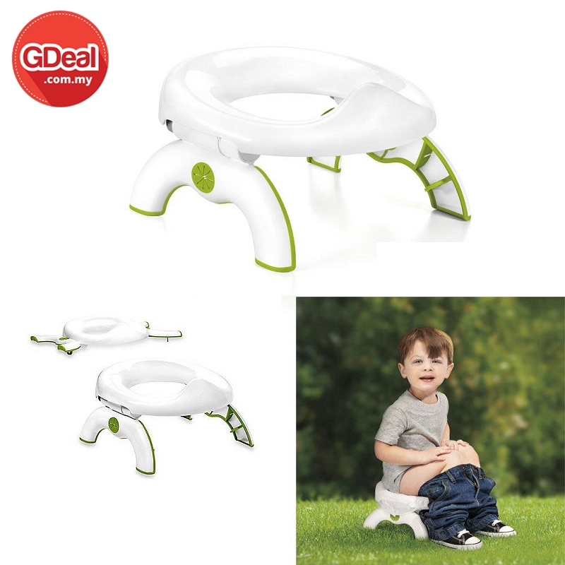 2-In-1 Toddlers Kids Travel Go Potty Holder For Children's Potty Training Toilet Seat