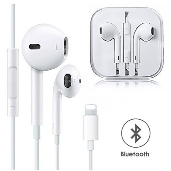 In Ear Headphones Wired Bluetooth Earphone For Apple Iphone X Xr Xs Max 8 7 Plus Earbuds With Microphone Earphone Shopee Malaysia