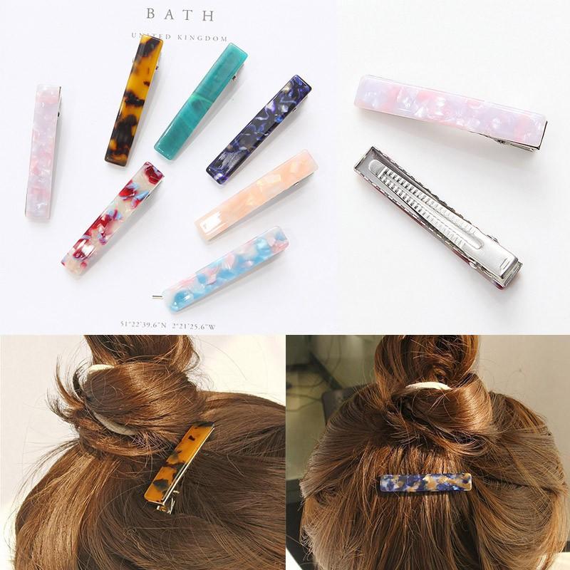 Women Acid Acrylic Long Barrettes Hair Clip Hairpin Hair Pin Hair Accessories Shopee Malaysia