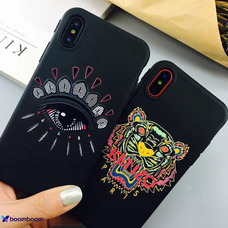 9d97bb8f29 for Kenzo Tiger Big Eyes Mobile Phone Case For iPhone X iPhone 6 6S ...