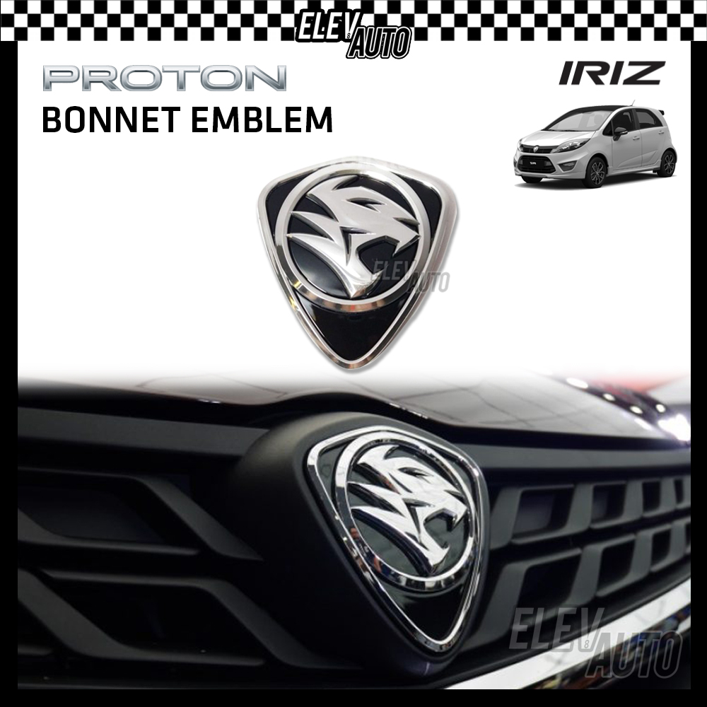 PROTON New Design Chrome Logo Emblem Front & Rear Iriz