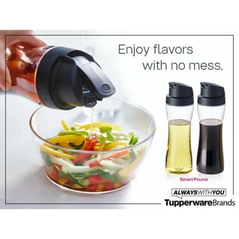 Tupperware Smart Pourer / Botol Kicap / Botol Minyak Tupperware ( set of 2 ) 770ML